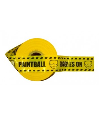 "Extra Strong 500 meters Boundary Tape ""Paintball - Goggles On"""