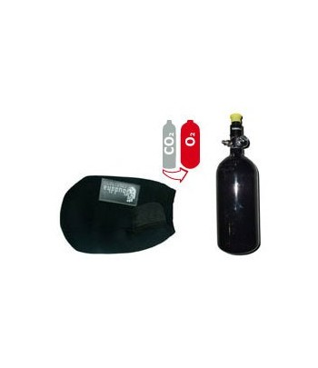 Compressed Air Upgrade Kit - Preset 3000 PSI +  0,8 L Aluminum Bottle 3000 PSI + Bottle Cover