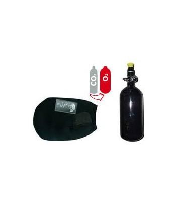 Compressed Air Upgrade Kit - Preset 3000 PSI +  0,8 L Aluminum Bottle 3000 PSI + Bottle Cover